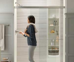 Ultra-Sleek Shower Doors